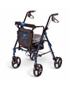 Medline Deluxe Comfort Rollator Blue 1Ct