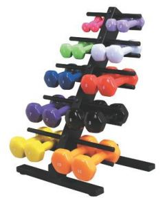 CanDo Red Vinyl-Coated Iron Dumbbell 6lb 1Ct