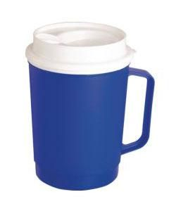 Insulated Mug, Tumbler Lid, Blue, 8oz