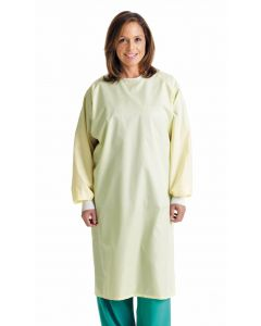 Blockade Isolation Gown, Yellow, One Size Fits Most, 12 Gowns