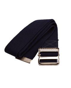 Medline Cotton Gait Belt w Metal Buckle 2x72 Black 1Ct