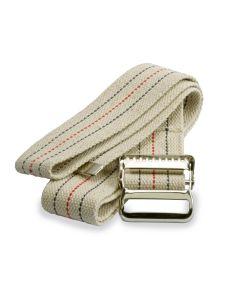 Medline Cotton Gait Belt w Metal Buckle 2x72 Beige 1Ct