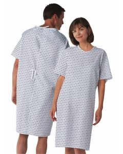 Patient Gown with Overlap Ties, Demure, 12 Gowns