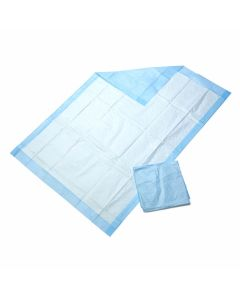 Medline Disposable Protection Plus Economy Weight Underpad, Fluff/Tissue Fill, Polypropylene Backing, White/Blue, 23 x 36 Inch, Case of 150