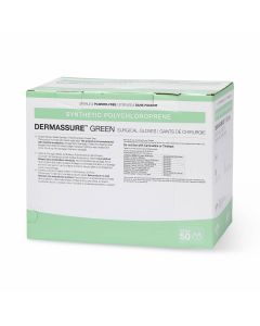 DermAssure Green Surgical Gloves, Size 8