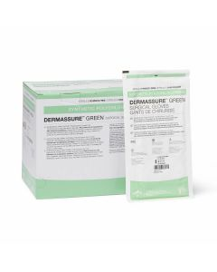 Dermassure Green Surgical Gloves, Size 8, Box of 50