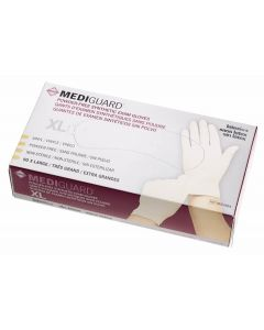 MediGuard Powder-Free Stretch Vinyl Exam Gloves, Size XL, Case of 900