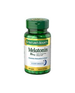 Sleep Aid Melatonin Capsules, 10 mg, 60/Bottle