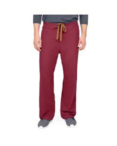 PerforMAX Unisex Reversible Drawstring Scrub Pants Size L Long Wine