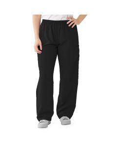 PerforMAX Unisex Elastic Waist Scrub Pants Size 2XL Regular Black