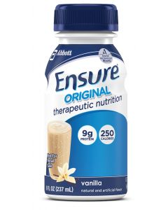 Ensure Original Nutritional Supplement, Vanilla, 8 oz. Bottle, Case of 24