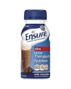 Ensure Plus Nutritional Supplement, Chocolate, 8 oz. Bottle, Case of 24