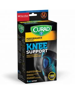 CURAD Performance Series Adjustable Knee Support with Patella Cutout, Universal Size, One Knee Support