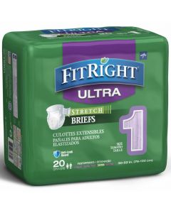 Medline FitRight Ultra Stretch Disposable Incontinence Briefs