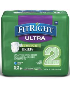 FitRight Ultra Stretch Disposable Brief L/XL/2XL 20Ct FRSU2Z by Medline