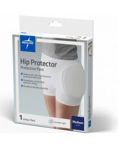 Medline Premium Closed Hip Protector White Medium 1Ct