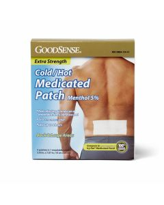 GoodSense X-Strength Medicated Cold/Hot Patch Large 5Ct OTC012413 by Medline