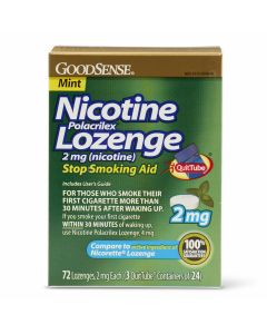 GoodSense Nicotine Polacrilex Lozenges 2mg 72Ct OTC034405 by Medline
