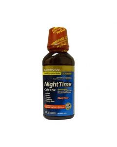 GoodSense Nighttime Cough Cold Flu Medicine 12oz 1Ct OTC045940 by GoodSense