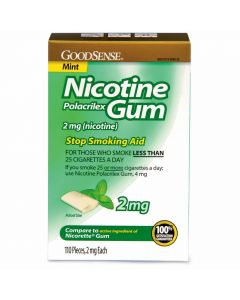 GoodSense Nicotine Gum 2mg Mint 110Ct OTC14733 by Medline
