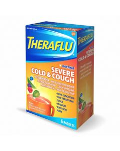 TheraFlu Daytime Severe Cold Cough Hot Liquid Powder 6Ct
