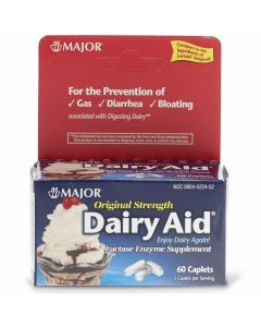Major Lactase Dairy Digestive Aid Caplets 3,000FCC 60Ct OTCS0120C2 by Medline
