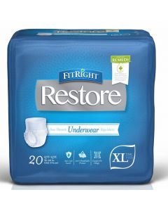 FitRight Restore Disposable Underwear w Remedy XL 80Ct