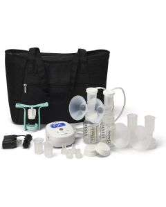 Ameda Mya Joy Double Electric Breast Pump with Large Tote & Accessories