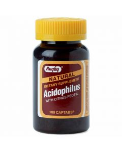 Rugby Acidophilus Probiotic Supplement with Citrus Pectin  0536-7180-01 by Medline
