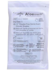 "Aloetouch Sterile 12"" Powder-Free Nitrile Exam Gloves, Size L"
