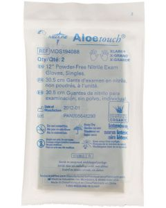 "Aloetouch Sterile 12"" Powder-Free Nitrile Exam Gloves, Size XL"