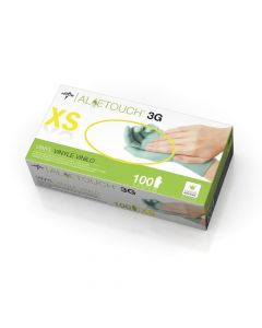 Aloetouch 3G Synthetic Powder-Free Stretch Vinyl Exam Gloves, Size XS, Case of 1000