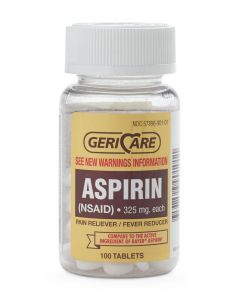 GeriCare Aspirin Pain Reliever Tablets 325mg