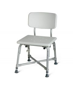 Medline Bariatric Aluminum Bath Bench with Back 1Ct MDS89745AXW by Medline