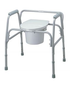 Replacement Medline Bariatric Commode Seat with Lid 1Ct