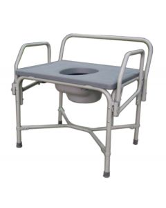 Bariatric Drop-Arm Commode 850 lb Weight Capacity