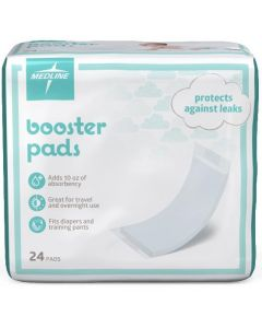 Medline Thin Booster Diaper Liners, 3.5 x 11.5in