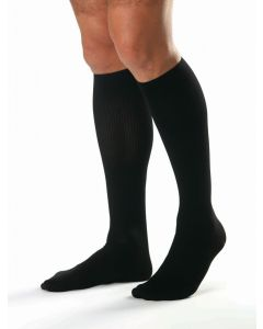 Jobst Sensifoot Over-the-Calf Diabetic Socks, Unisex, Black, Size L, One Pair