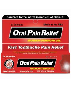 Dr. Sheffield's Oral Toothache Relief Gel .33oz 1Ct OTC02303 by Medline