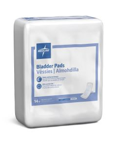 """Bladder Control Pads for Incontinence, Maximum Absorbency, 3.25"""" x 13"""", Case of 126"""