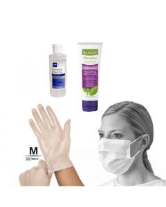 PPE Bundle with Gloves Size Medium