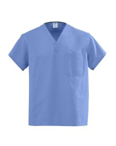 AngelStat Rev V-Neck Scrub Top Ceil Blue Angelica S 1Ct