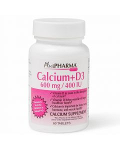 Calcium with Vitamin D3 Tablet 600mg 60Ct OTC073206 by Medline