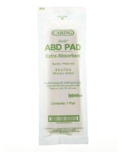 """Medline Caring Sterile Abdominal Pad 8""""x7.5"""" 20 Count"""