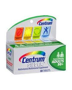 Centrum Silver 50+ Multivitamin/Multimineral Supplement, Bottle of 80 Tablets