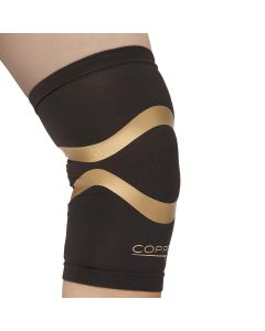 Copper Fit Knee Compression Sleeve with Kinesiology Bands, Unisex, Size XXL, One
