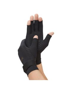 Copper Fit Hand Relief Arthritis Compression Gloves, Unisex, Size S/M, One Pair