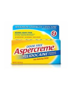 Odor-Free Aspercreme with 4% Lidocaine Pain Relieving Cream