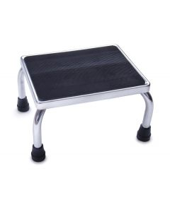 Medline Chrome Footstool with Rubber Top 1Ct