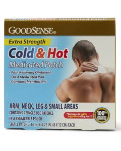 GoodSense X-Strength Medicated Cold/Hot Patch Small 5Ct OTC001256 by Medline